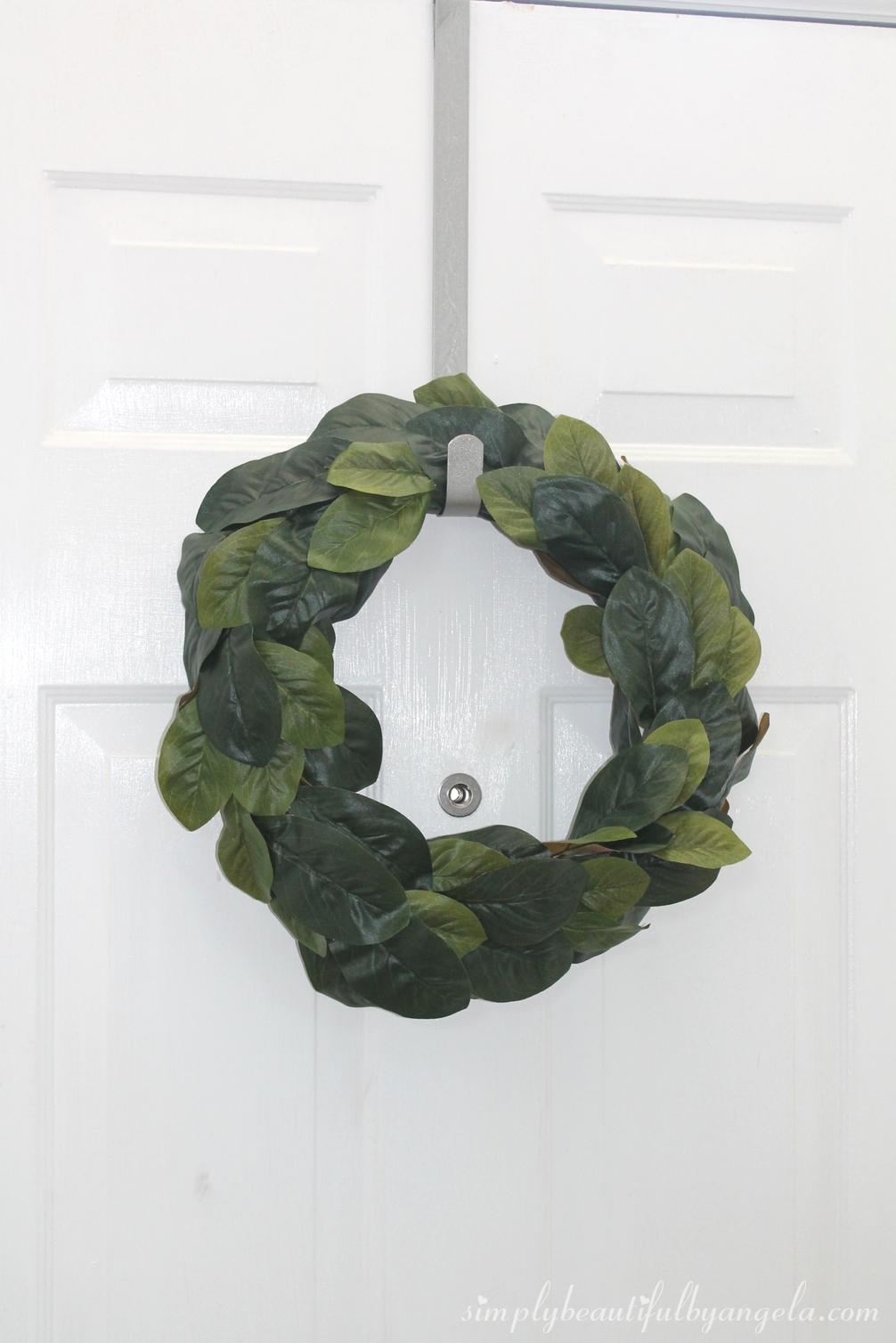 diy fixer upper magnolia wreath. Black Bedroom Furniture Sets. Home Design Ideas