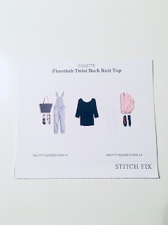 October 2017 Stitch Fix Review. Colette Florettah Twist Back Knit Top | brazenandbrunette.com