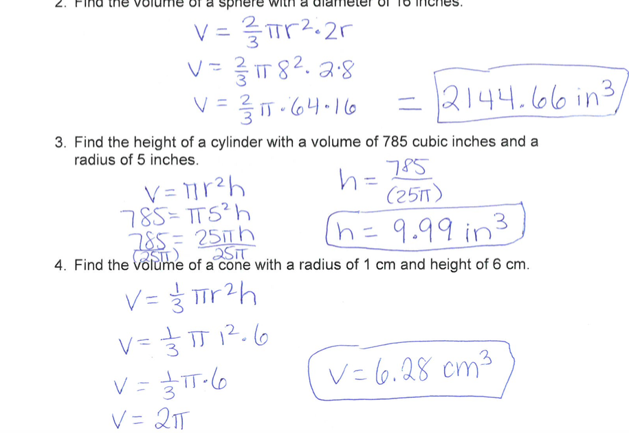 Math with Ms. Eringis : Review Sheet Pre-Algebra Volume Quiz Answers!