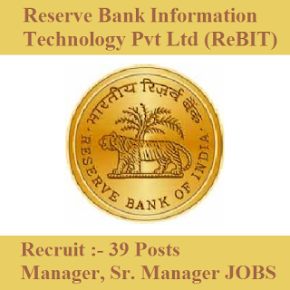 Reserve Bank Information Technology Pvt Ltd, ReBIT, RBI, Bank, Manager, Graduation, freejobalert, Sarkari Naukri, Latest Jobs, rebit logo