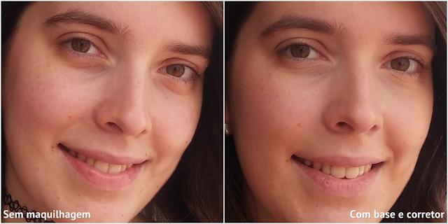 Corretor Cover Stick Essence: antes e depois