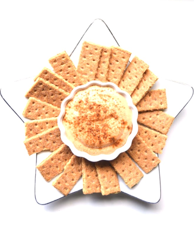 This pumpkin gingerbread dip is perfect for a snack or dessert and is healthier than your typical dip with the addition of pumpkin and Greek yogurt! www.nutritionistreviews.com