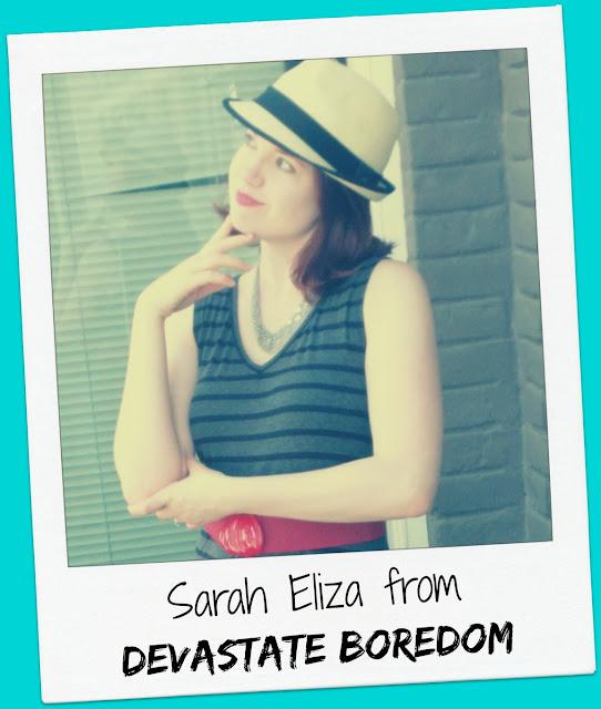FridayFrivolity host Sarah Eliza of Devastate Boredom
