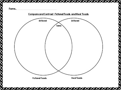 frog and toad venn diagram box jellyfish labeled classroom freebies too: comparing contrasting fictional real frogs toads