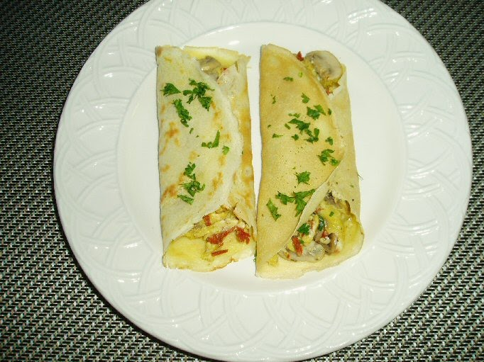 Meatless Mediterranean: Scrambled Egg Breakfast Crepes with