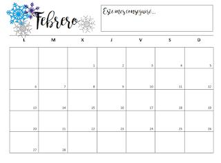 Organizador mensual de este año