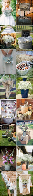Buckets for Wedding Decor