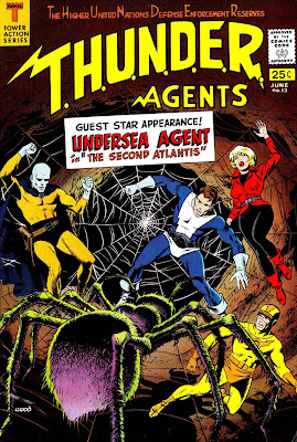 Thunder Agents v1 #13 tower silver age 1960s comic book cover art by Wally Wood