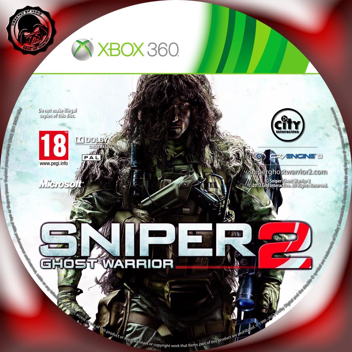 Label Sniper Ghost Warrior 2 Xbox 360