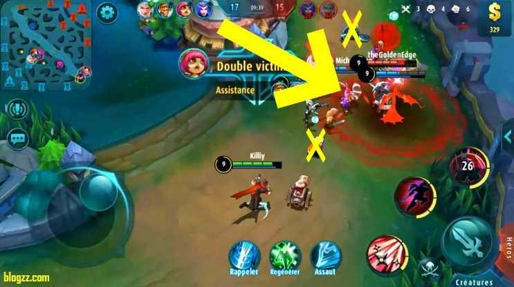 Mobile Legends'da direnemediğiniz bölgelerden geri çekilin, bu sayede güçlü bir savunma yapabilirsiniz..