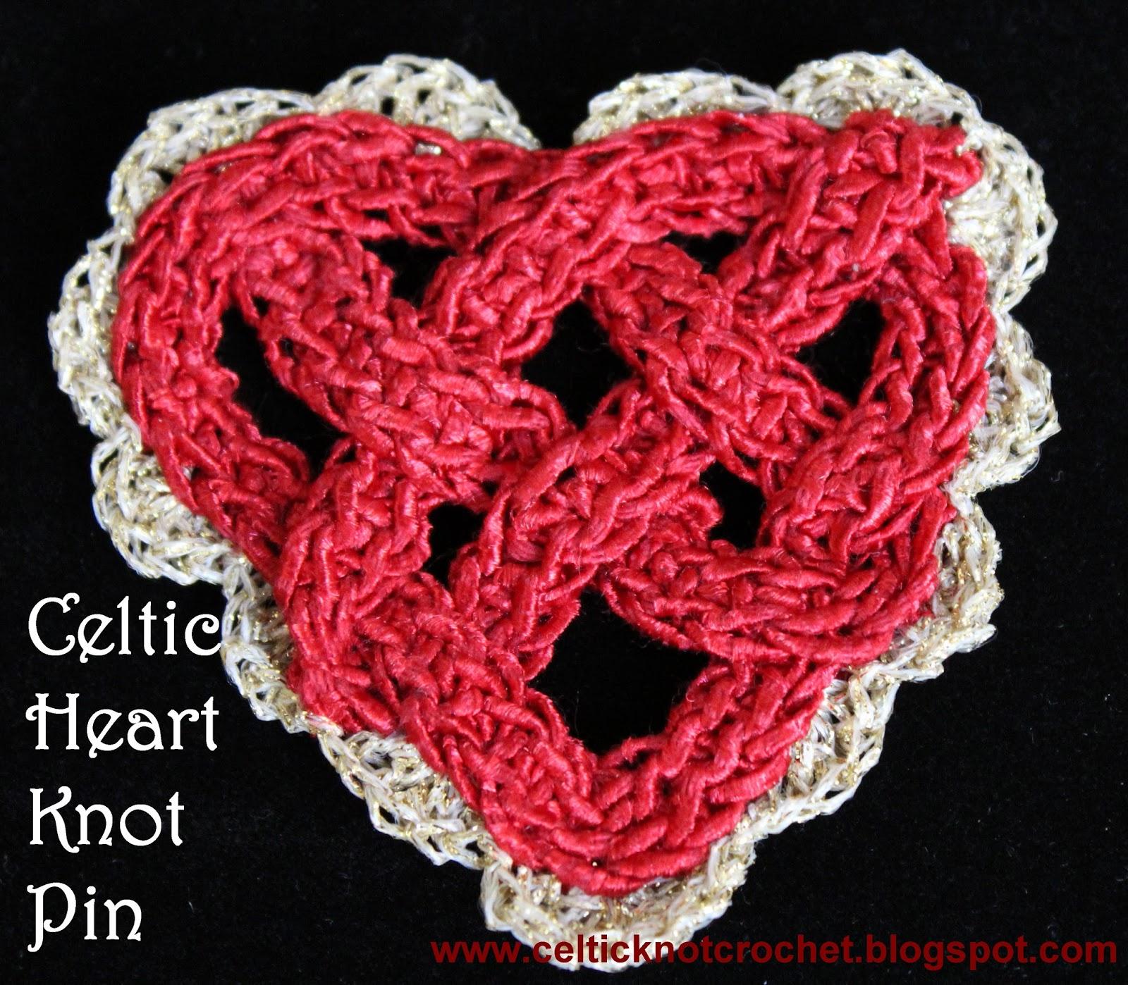 Celtic Heart Knot Pin Celtic Knot Crochet
