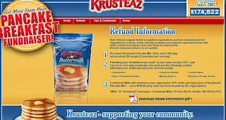 Krusteaz will pay for half of your pancakes if you have a fundraiser