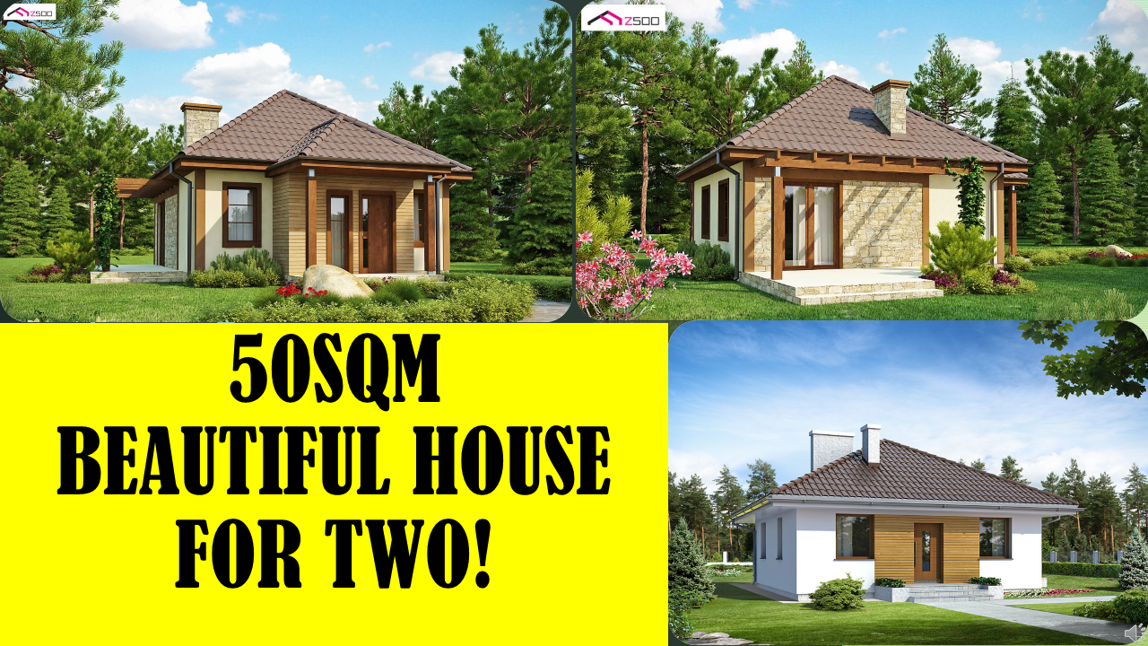 This 50 square meters simple and cheap small house with an optimal function on a small surface is available for you wherever you are