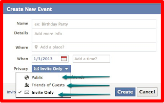Private Events on Facebook