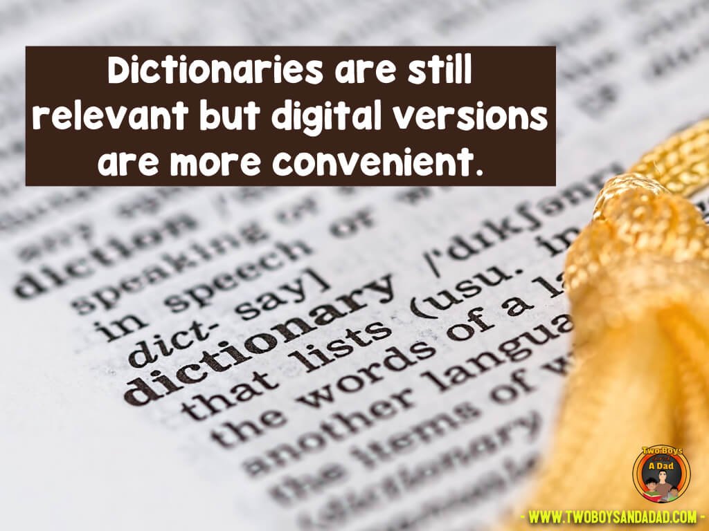 Teach kids the skill of using online dictionaries