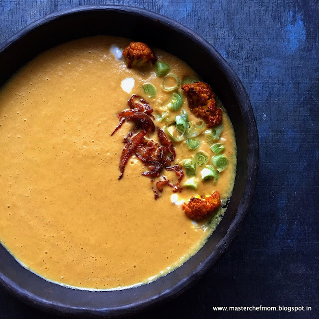 Curried Cauliflower and Turmeric Soup Recipe