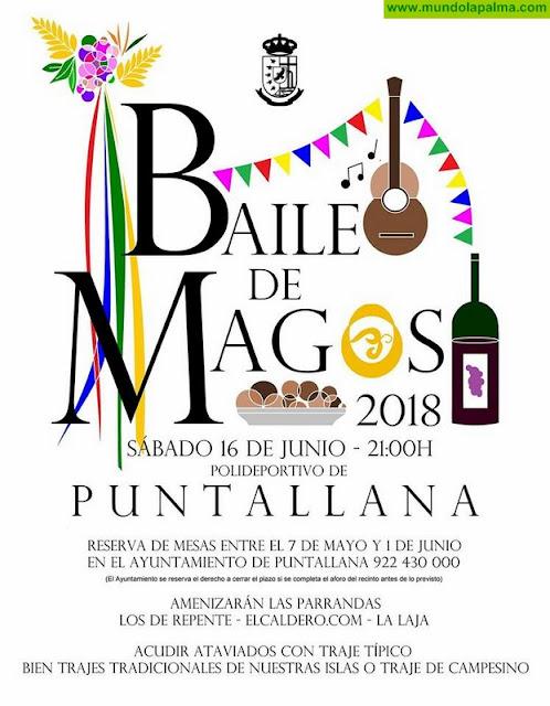 El próximo lunes quedará abierto el plazo de reserva de mesas y sillas para el Baile de Magos 2018 de Puntallana