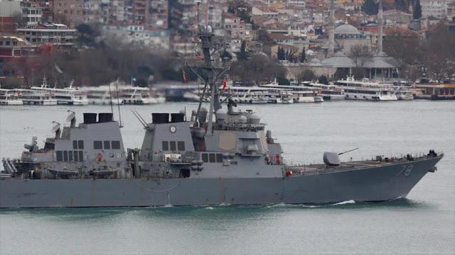 """Buques rusos abandonan base siria de Tartus """"ante ataque de EEUU"""""""