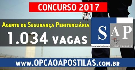 Apostila Concurso SAP-SP 2017 Agente de Segurança Penitenciária