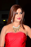 Sejal Jen Shah in Strapless Sleeveless Deep neck Red Gown at 64th Jio Filmfare Awards South ~  Exclusive 010.JPG