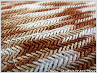 с миру по нитке вязание спицами узор елочкамастер класс
