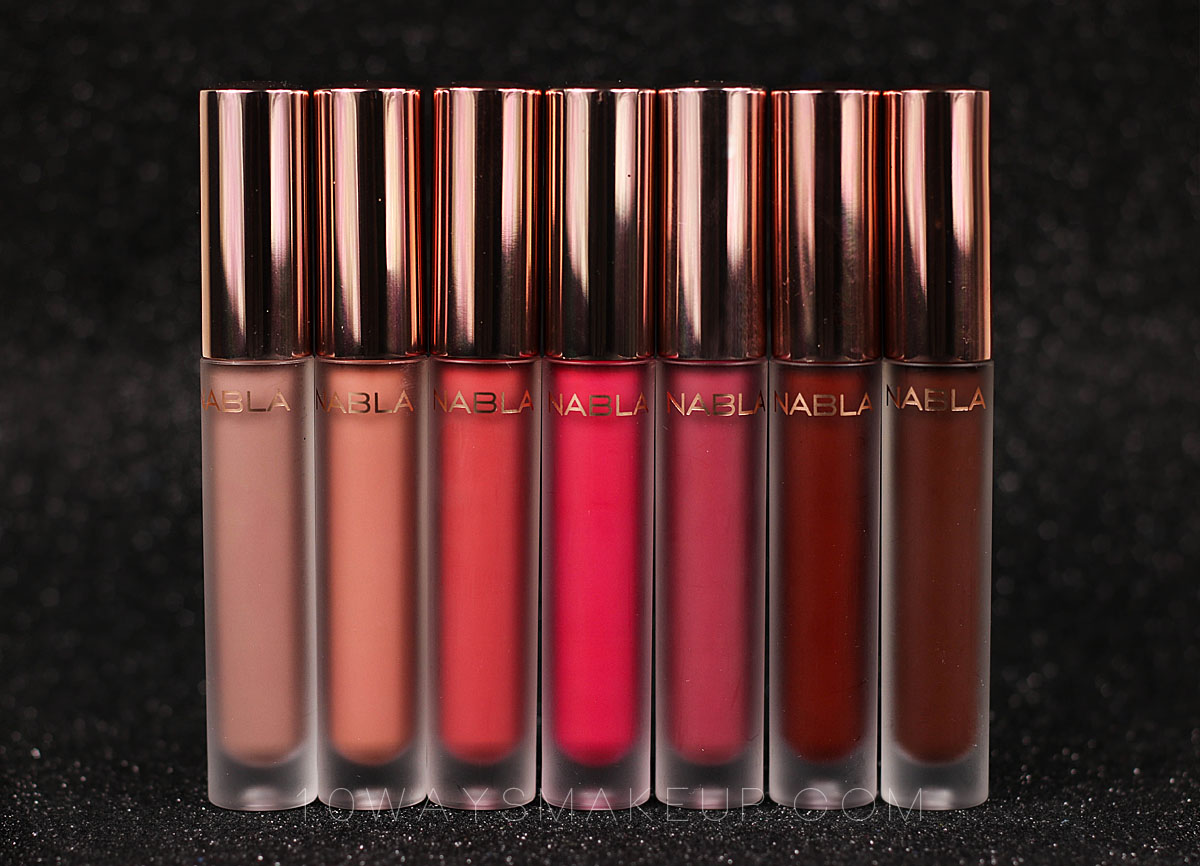 Nabla Dreamy Matte Liquid Lipsticks swatch