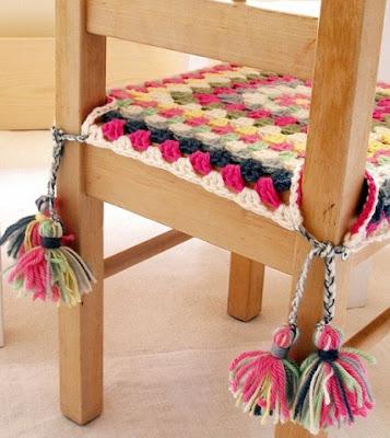 DIY Decoração - Capa Para Banquinho Redondo em Croche Com Barbante - Gráficos e Sugestões 34