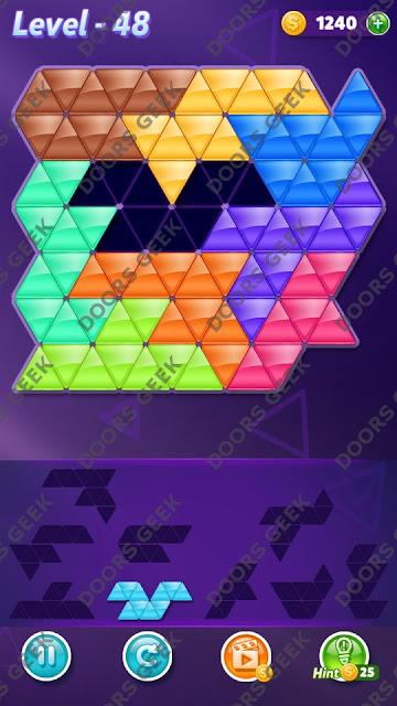 Block! Triangle Puzzle 9 Mania Level 48 Solution, Cheats, Walkthrough for Android, iPhone, iPad and iPod