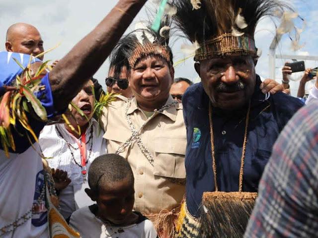 Prabowo Subianto ke Merauke, Janji Perhatikan Masyarakat Indonesia Timur