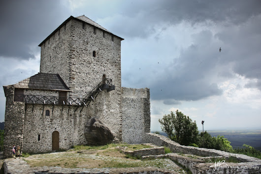 stormy on Vršac Hill and castle