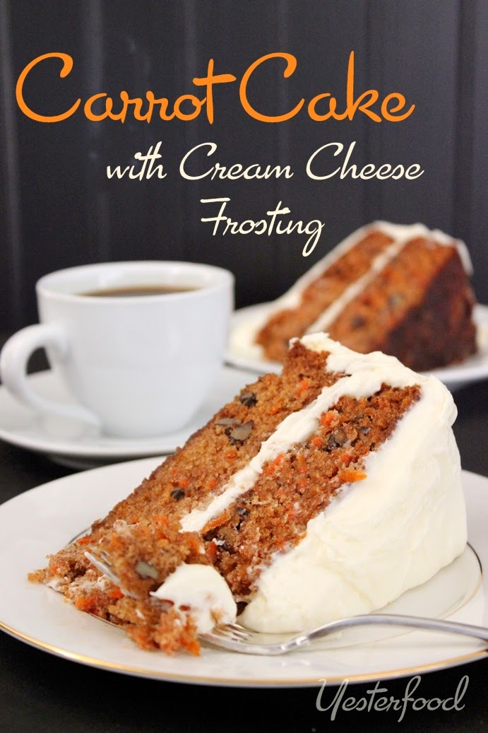 yesterfood - carrot cake with cream cheese frosting