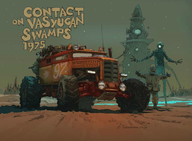 Contact on Vasyugan Swamps 1975 - Illustration by Andrey Tkachenko
