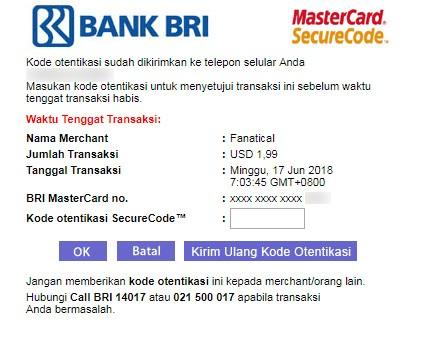 BankBRI MasterCard SecureCode