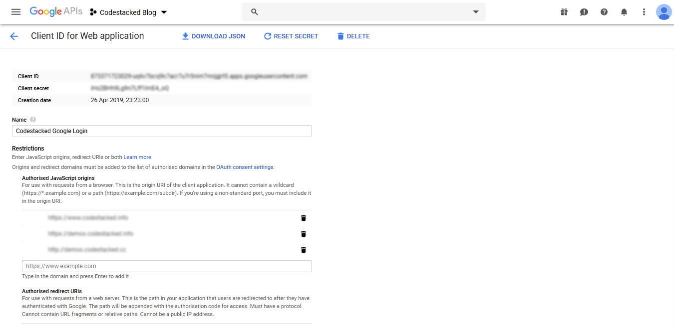 Login with Google OAuth in PHP-04