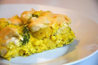 Veganska gratinirana cvetača in brokoli