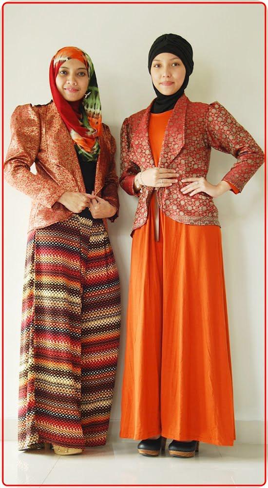 Fashion Muslim Nuansa Etnik dengan Songket  Tutorial Hijab