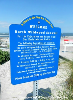 Welcome to the North Wildwood Seawall in New Jersey