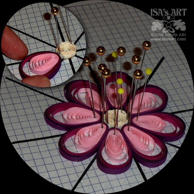 Isa Sart Quilling Nouvelle Fleur Tuto Cercle Excentre