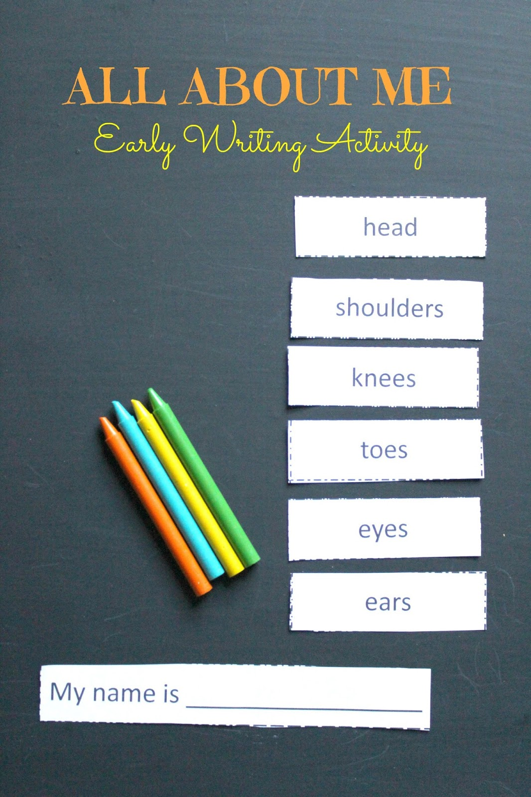 All About Me Writing Activity For Young Children Free