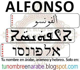 Alfonoso en hebreo, arameo y arabe