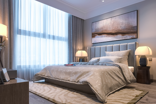 Phòng ngủ nhà mẫu dự án Northern Diamond