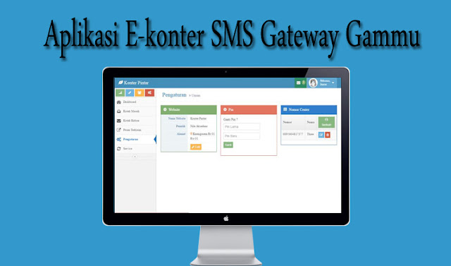 Source code Aplikasi E-Konter SMS Gateway Gammu dengan PHP