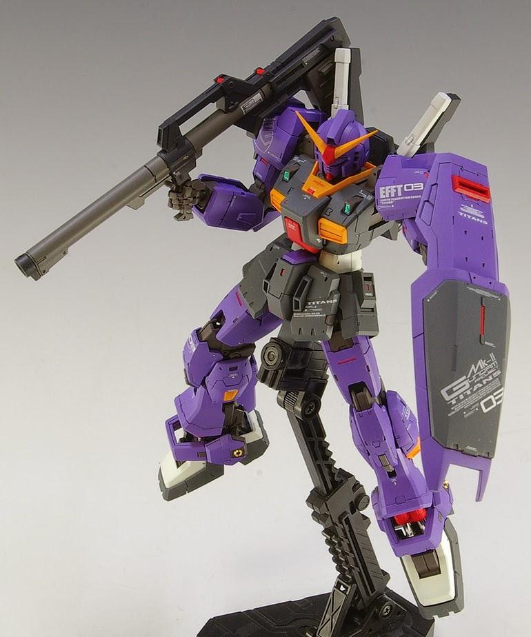 Rg 1 144 Gundam Mk Ii Titans Test Machine Custom Build Gundam Kits Collection News And Reviews