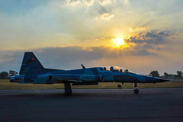 F-5 Tiger TNI AU yang telah grounded (istimewa)