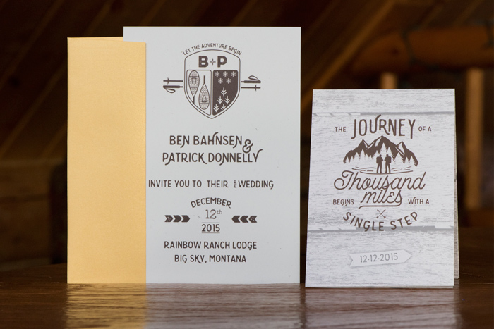 Jessie Moore Photography / Montana Wedding Invitations by Molly Stratton Design