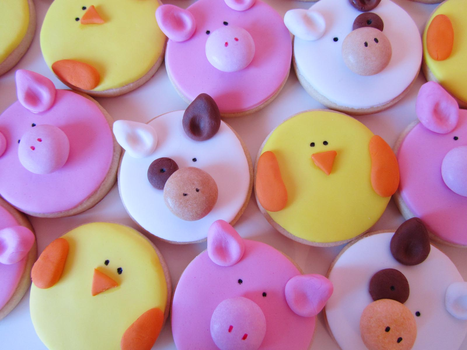 Galletas Decoradas Animales De La Granja Fondant