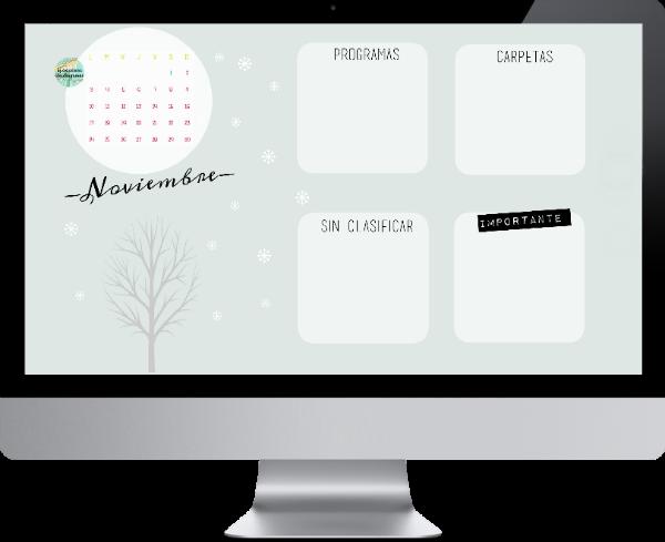 Fondo de escritorio y calendario de noviembre