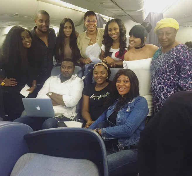 Nollywood celebs gather for groupie on flight