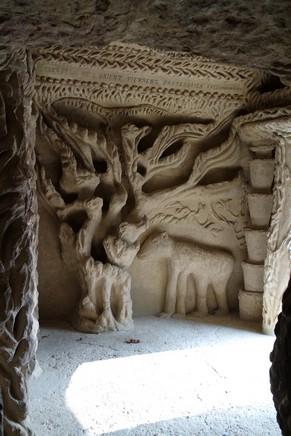 drôme hauterives palais idéal facteur cheval intérieur façade ouest