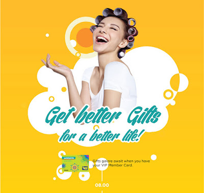 Watsons Free Gifts with Purchase Using Member VIP Card